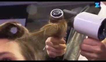 Hier seht ihr Jörg in Action mit dem Dyson Haartrockner
