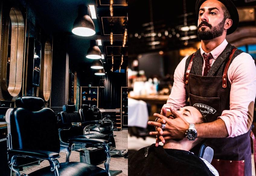 """Stylisch, stylischer, Men's Room! Wer maskulines Grooming der Extraklasse sucht, ist hier richtig: An der alten Oper in Frankfurt hebt der Barbershop """"The Men's Room"""" das Thema """"Männerluxus"""" auf ein neues Level. Unter den Händen von 5 erstklassig ausgebildeten Barbieren heißt es auf 120 qm: """"Gents only!"""". In der exklusiven Männerwelt von Inhaber Emrah Sirin können anspruchsvolle Herren ihr Äußeres von A bis Z pimpen lassen. Und das im erstklassig designten Ambiente!"""